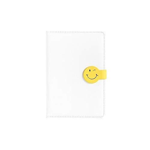 aedouqhr Bloc de Notas Cuaderno de Cuero Hebilla magnética Libro de Cuentas Diario Espesamiento Simple Estudiante de Negocios Cuaderno de PU Cuaderno de Copia Impresa Bloc de Notas (Color: D)