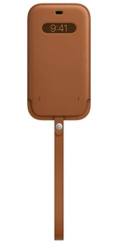 Apple Leather Sleeve with MagSafe (for iPhone 12 Pro Max) - Saddle Brown