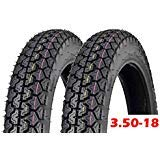MMG Set of 2 Tire 3.50-18 Motorcycle Scooter Moped Street Front/Rear Performance