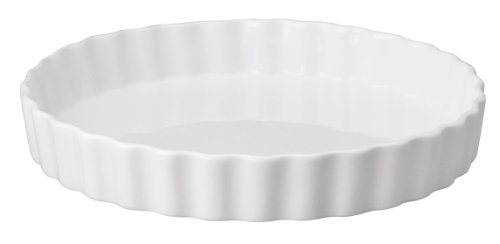 "HIC Harold Import Co. 98016 10"" x 1.5"" Round Quiche Dish, 10 x 1.5-Inches, White"