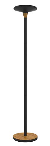Unilux Baly - Lámpara de pie LED, 44 W, 5300 lúmenes, regulable, 180 x 34 cm, color negro