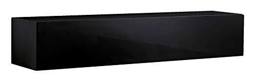 Lettiemobili – Mueble de televisión modelo Forli XL (160 cm.), negro