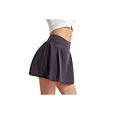 UBFEN Women's Pleated Tennis Skirts with Pockets Athletic Golf Skorts Running Exercise Skirts