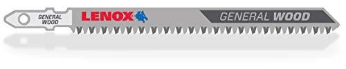 LENOX Tools 1991478 T-Shank Clean Wood Cutting Jig Saw Blade, 4 1/2