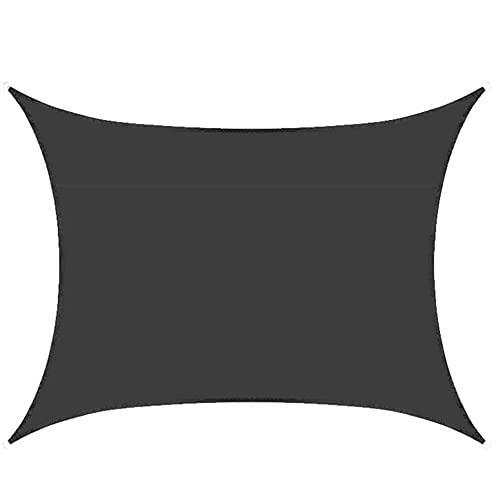 GAMYEA Toldo Rectangular de 3 x 4 m, toldo de protección Solar, Impermeable para Nadar en el jardín al Aire Libre (Color : Black, Size : 3 * 4m)