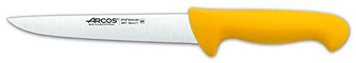 Arcos Séries 2900 - Couteau de Boucher Couteau à Steak - Lame Acier Inoxydable Nitrum 180 mm - Manche Polypropylène Couleur Jaune