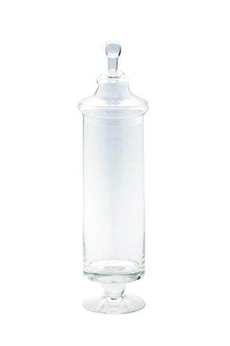 "Diamond Star Glass Clear Apothecary Jar, 4"" by 17"""