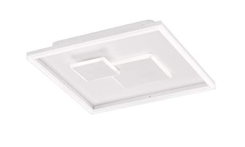 WOFI Nadra Lámpara de techo, Blanco, H: 6,5 cm x B: 40,5 cm x L: 40,5 cm