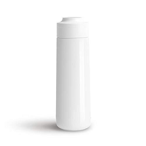 XYAN Taza de Botella de Agua de Acero Inoxidable USB Carga de Botella Inteligente recordatorio Bebiendo LCD Presione la Pantalla de la Pantalla de la Pantalla TERMOS DE VACÍO (Color : Blanco)