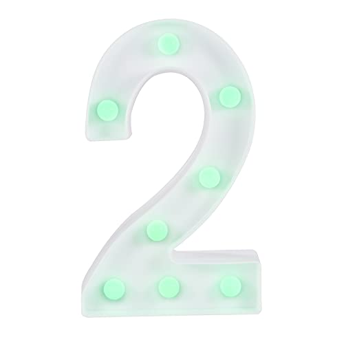UTDKLPBXAQ Colorful Number Night Lamp LED Figure Lamp Number 0-9 Modelling Light Decoration Lamp with 16 Changing Colors 4 Lighting Modes Remote Control for Home Bar Party Wedding