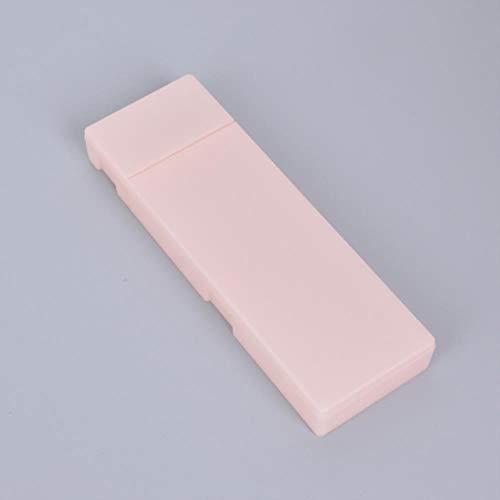 PJC Semplice astuccio trasparente per matite, scatola di plastica per l'apprendimento di cancelleria per ufficio, 21 x 7 cm