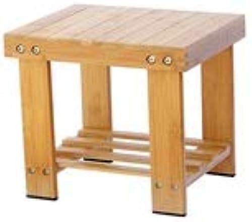 LLYU Petit tabouret, repose-pieds et siège multifonctions en bambou, étagère de rangeHommest pour enfant ou adulte, matériau 100% naturel, convient au repose-pied moderne avec canapé du salon et table ba