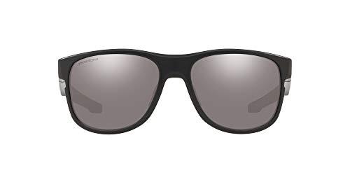 Oakley Men's OO9359 Crossrange R Square Sunglasses, Matte Black/Prizm Black, 57 mm