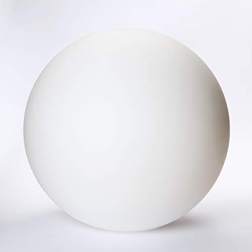 Glaskugel mit Loch viele Größen Lampenglas Glasschirm Opal weiß matt Ersatzglas Schirm Glaskugel (Ø 200mm)
