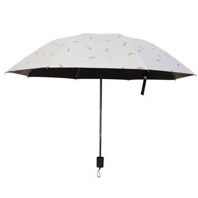 PPGG paraplu's ultra licht mini drie vouwen paraplu zon zonnescherm uv bescherming voor regen en zon vijf vouwen paraplu outdoor als foto