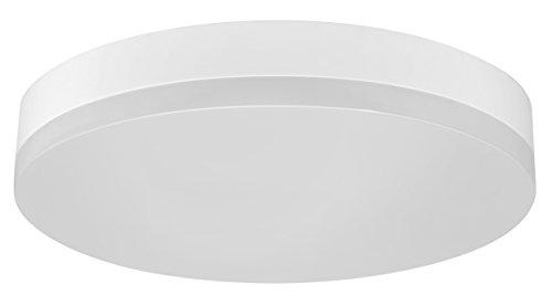 Müller-Licht LED Wand-und Deckenleuchte ideal für den Flurbereich, rund, mit Bewegungs-und Dämmerungssensor, 24 W, 3000 K, Plastik, Warmweiß, mit Sensor