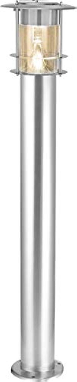 Best Season LED-Solar-Wegleuchte, Edelstahl, circa 78 x 14 cm, 6 warm wei LED extrabright, mit Solarpanel, inklusive Akku outdoor, silber 477-74