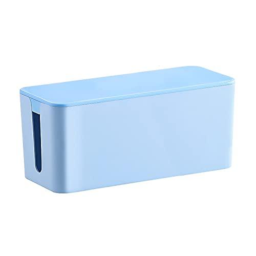 zlw-shop Caja de administración de Cable Multifuncional Caja de energía Box de Almacenamiento Organizador de plástico de Escritorio para Cable y administración de Cable, Almacenamiento y Soporte