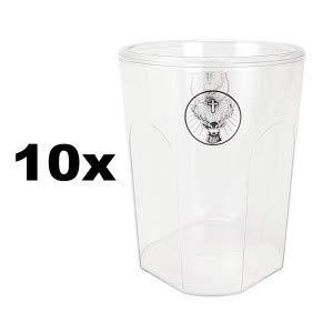 Jägermeister Thermobecher Becher doppelwandiger Plastikbecher Longdrinkglas Longdrink Glas Gläser Set - 10x Longdrinkgläser