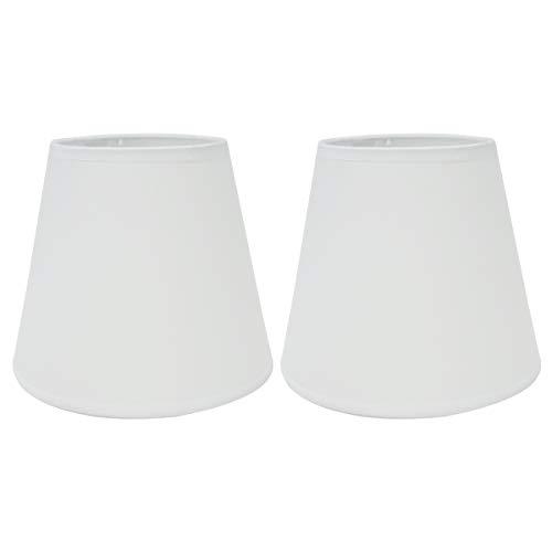 Eastlion 2 Pack 6.2' E14 Nachttisch Lampenschirm Wandleuchte Kristall Kronleuchter Lampenschirme,Weiss