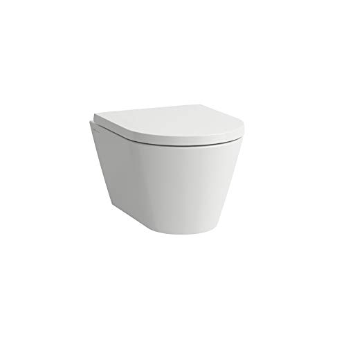 Laufen Kartell WC Compacto de Pared, Lavable, sin Borde, 490x370X285 mm, Color: Gris Mate - H8203337590001