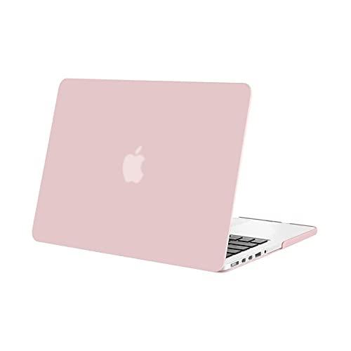 MOSISO Funda Dura Compatible con MacBook Pro 13 Retina A1502 / A1425 (Versión 2015/2014/2013/fin 2012), Ultra Delgado Carcasa Rígida Protector de Plástico Cubierta, Cuarzo Rosa