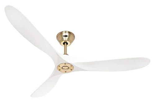 Casafan plafondventilator Eco Genuino / 152 cm/motor gepolijst messing DC energiebesparend / 6 snelheden/houten vleugels