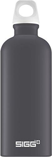 Sigg Lucid Shade Touch, Design Trinkflasche, 0.6 L, Aluminium, BPA Frei, Dunkel Grau