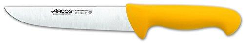 Arcos Serie 2900, Cuchillo Carnicero, Hoja de Acero Inoxidable Nitrum de 180 mm, Mango inyectado en Polipropileno Color Amarillo