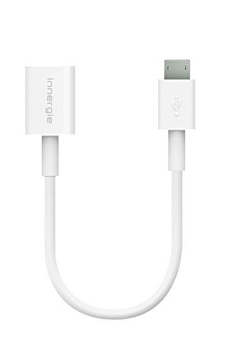 Innergie MagiCable USB-C zu Micro USB zum Laden mit USB-C Geräten für Tablets, Smartphones, Spielkonsolen und GPS Navigation, 20cm, weiß