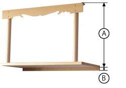 伊勢 - 宮忠 - 神棚 棚板セット 『丸柱雲板付き神棚板セット 大』