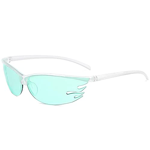 Steampunk Gafas de sol deportivas hombres mujeres flameado cuadrado sol conductor sombras masculino vintage conducción medio marco gafas UV400