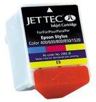 JetTec Tintenpatronen für Stylus Color 400/600 / 800/850 / 1520 color; Füllmenge 3 x 14 ml