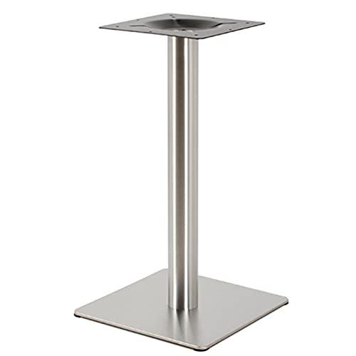 Patas de mesa de acero inoxidable, diámetro de 72 cm, patas cuadradas, 245 x 245 cm