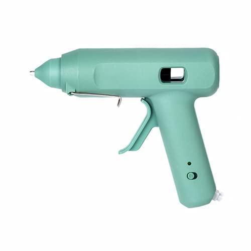 Kit de pistola de pegamento caliente, núcleo de calefacción de cerámica, cabeza de aleación de aluminio, pegamento continuo sin desbordamiento, para proyectos de artesanía pequeña DIY y reparaciones