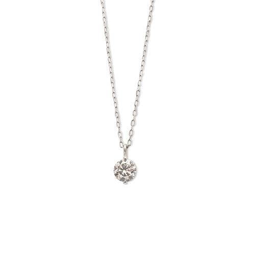 エステール プラチナ ダイヤモンド ネックレス(0.15ct)【プラチナム/40.0cm】