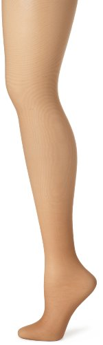 Hanes Women's Control Top Sheer Toe Silk Reflections Panty Hose, Barely There, C/D