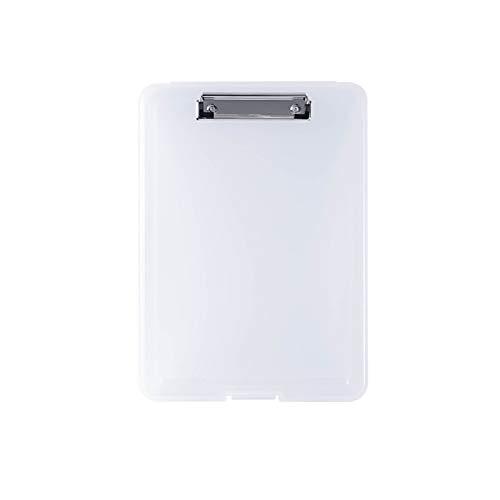 Clip De Tablero De Escritura Multifunción A4, Caja De Almacenamiento De Papel De Prueba De Archivo Portátil Frosted PP, Para Estudio De Oficina Al Aire Libre Para Exteriores