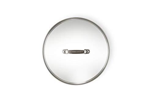 Le Creuset, Couvercle en Verre Diamètre 30 cm, Accessoire Compatible aux Gammes les Forgées et Fonte, Poignée Rivetée en Inox
