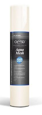 "OESD Aquamesh Wash-Away Stabilizer White 15"" x 10 Yard Roll"