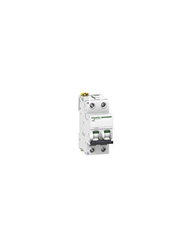disjoncteur 2 pôles - schneider acti9 ic60n - 63 ampères - courbe c - a9f77663