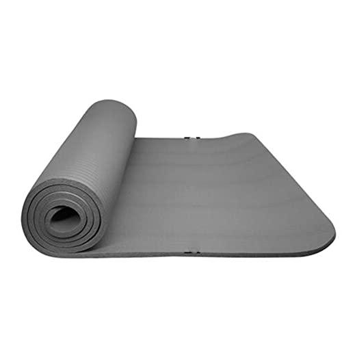 Qagazine Esterilla de yoga portátil, gruesa y duradera, para hacer ejercicio, yoga, fitness, gimnasio, yoga, ejercicio, mujeres y hombres (10 mm)