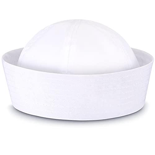 SATINIOR White Sailor Hats Navy Captain Hats Yacht...