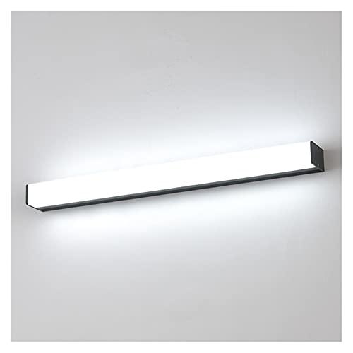 lxxiulirzeu Lámpara de Pared LED Espejo de baño Luz Interior Indoor Decoraciones de hoteles Super Bright Strips Light Mirror Light (Color Temperature : Warm White, Lampshade Color : Silver)