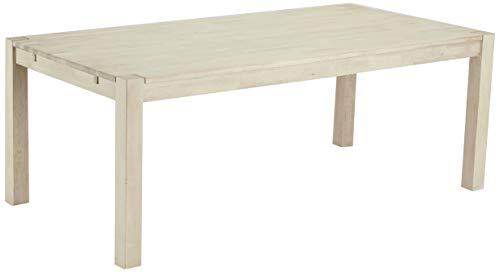 Ibbe Design Rechteckig Ausziehbar Esstisch Natur Massiv Seifen-Finish Eiche Holz Esszimmer Tisch Texas, L200x B100x H75 cm