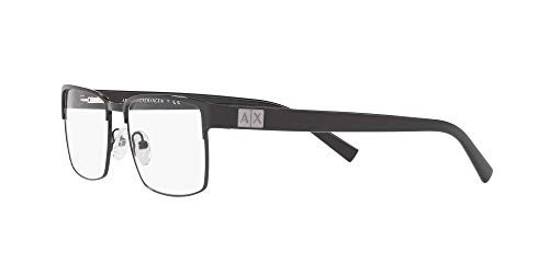 AX Armani Exchange Men's Ax1019 Metal Square Prescription Eyeglass Frames