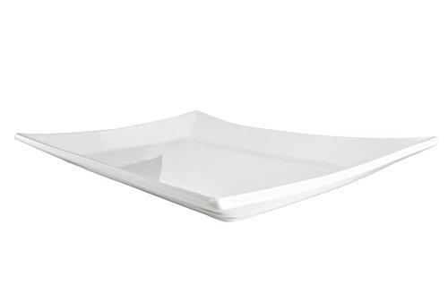 Van Well Serie Steingut Platten, Servierplatten, Schlemmerplatten Porzellan - Verschiedene Größen wählbar, Platte 45.5x33x2cm