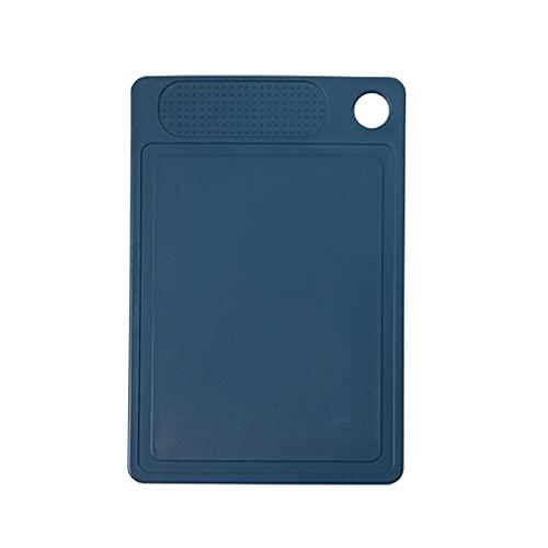 Tabla de Cortar Tableros de corte de plástico Pequeño tajadera para tablero de corte de cocina con surco de jugo y agujero de colgar (13.98 * 9.45 pulgadas, azul) Tablas de Cortar Cocina