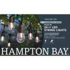 HamptonBayLighting 12-Light Indoor/Outdoor 24 ft. String Light with S14 Single Filament LED Bulbs (12)