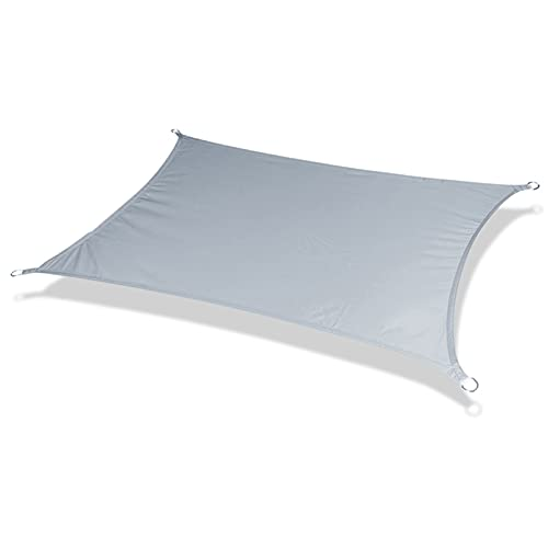 SHRMBS147 Toldo Vela de Sombra Rectangular Tasa de sombreado 95% toldo Resistente y Transpirable Impermeable a Prueba de Viento protección UV para Exteriores Patio jardín pérgola Patio,Gris (3×3m)